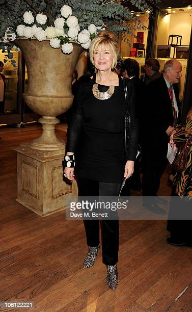 Television news personality Julia Somerville attends a private viewing of Modern British Sculpture at the Royal Academy of Arts on January 18, 2011...