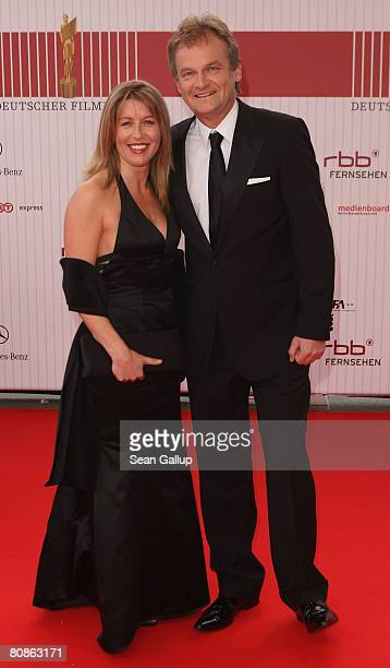 Television news show presenter Frank Plasberg and his wife Anne Gesthuysen attend the German Film Award 2008 at the Palais am Funkturm on April 25...