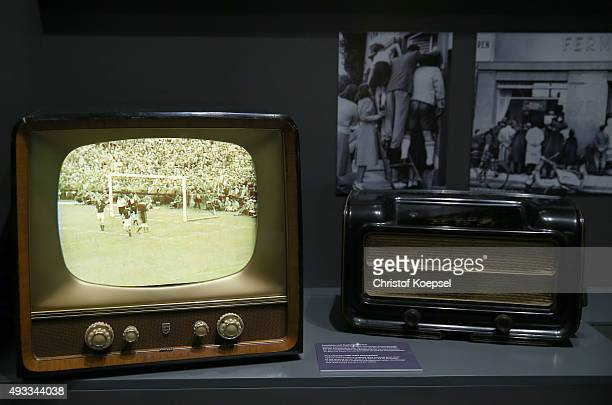Television of 1954 of the World Cup in Bern at the German Football Museum on October 19 2015 in Dortmund Germany