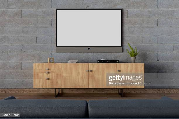 television over cabinet at home - televisor - fotografias e filmes do acervo