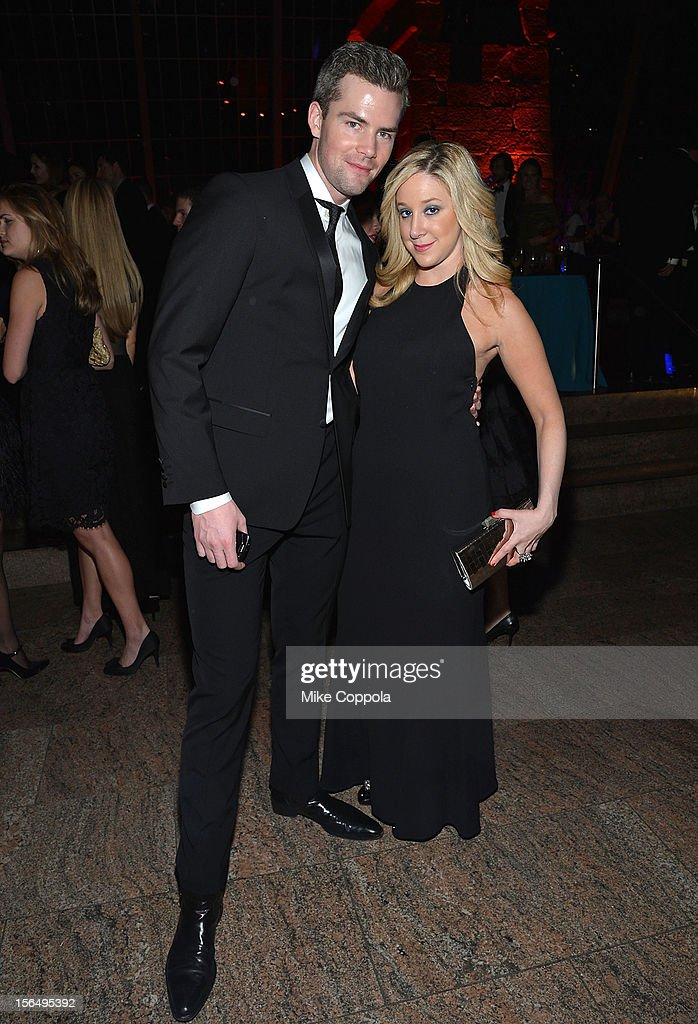 Television personalites Ryan Serhant (L) and Amy Poliakoff attend the 2012 Apollo Circle Benefit at the Metropolitan Museum of Art on November 15, 2012 in New York City.