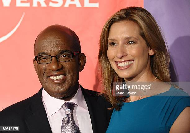 Television personalities Al Roker and Stephanie Abrams attend NBC and Universal's 2009 TCA press tour allstar party at The Langham Resort on August 5...