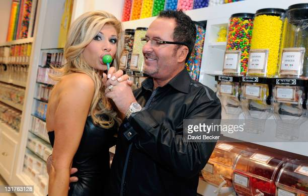 Television personalities Alexis Bellino and her husband Jim Bellino celebrate their anniversary at the Sugar Factory at the Paris Las Vegas on April...