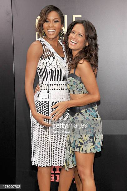 Television personalities Alicia Quarles and Rocsi Diaz attend the New York premiere of One Direction This Is Us at the Ziegfeld Theater on August 26...