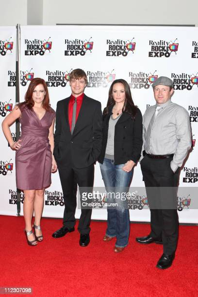 Television personalities Amy Bruni Adam Berry Kris Williams and Barry Fitzgerald arrive at the 2011 Reality Rocks Awards at Los Angeles Convention...