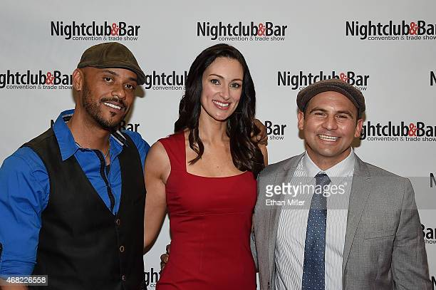 Television personalities and bartenders Phil Wills and Mia Mastroianni and television personality and chef Nick Liberato attend the 30th annual...