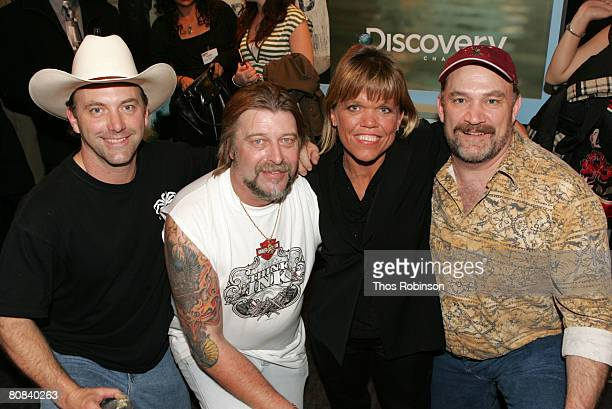 Television personalities Andy Hillstrand Phil Harris Amy Roloff and Keith Colburn attend the Discovery Upfront Presentation NY Talent Images at the...