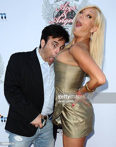 Television personalities Ant and Heather Chadwell attend the Aces Angels celebrity poker tournament at The Playboy Mansion on July 11 2009 in Beverly...
