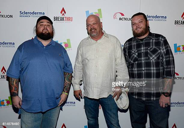 """Television personalities Austin """"Chumlee"""" Russell, Rick Harrison and Corey """"Big Hoss"""" Harrison from History's """"Pawn Stars"""" television series attend..."""