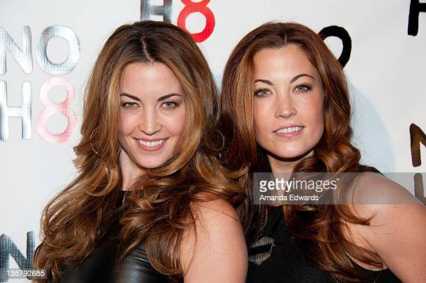 Television personalities Becky and Jessie O'Donohue arrive at the NOH8 Campaign's 3 Year Anniversary Celebration at House of Blues Sunset Strip on...