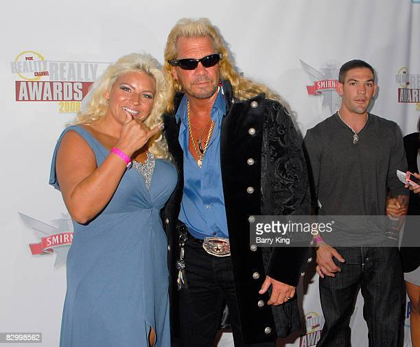 Television personalities Beth Chapman Duane Chapman and their son Leland Chapman arrive at the Fox Reality Channel's Really Awards held at Avalon...