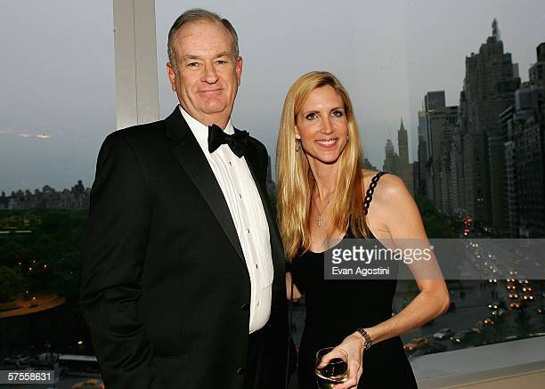 Television personalities Bill O'Reilly and Ann Coulter attend a cocktail party for Time Magazine's 100 Most Infuential People issue at Jazz at...