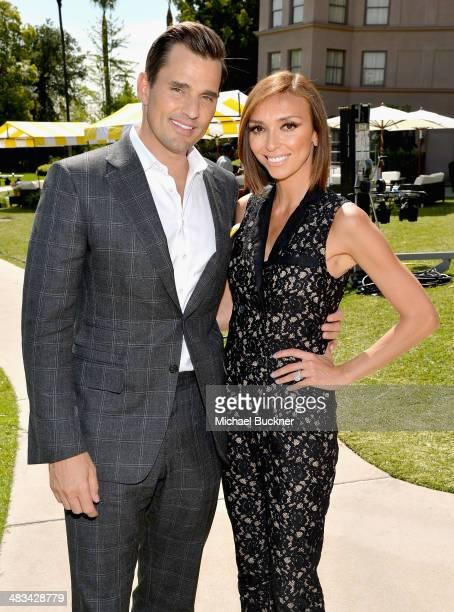 Television personalities Bill Rancic and Giuliana Rancic attend NBCUniversal's Summer Press Day at Langham Hotel on April 8 2014 in Pasadena...