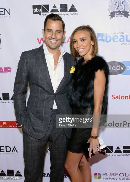 Television personalities Bill Rancic and his wife Giuliana Rancic arrive at The North American Hairstyling Awards 25th anniversary celebration at the...