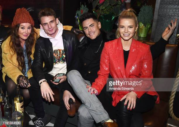 Television personalities Billie Lee James Kennedy Tom Sandoval and Ariana Madix attend the 10th Annual Tree Lighting Ceremony at The Abbey on...