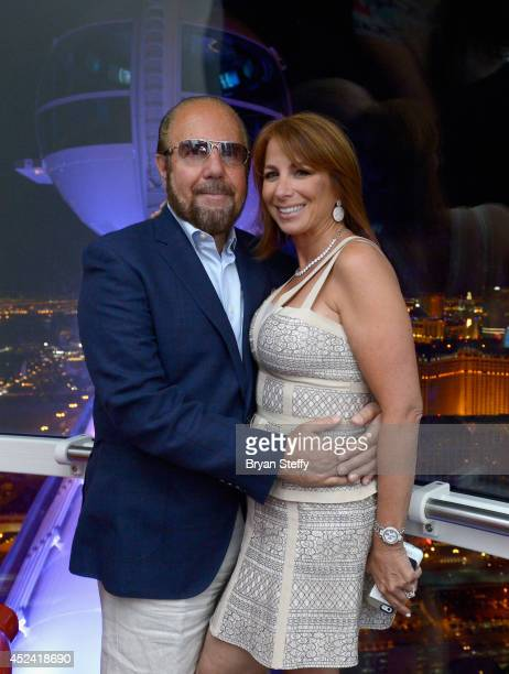 Television personalities Bobby Zarin and his wife Jill Zarin ride the world's tallest observation wheel The High Roller at The LINQ on July 19 2014...
