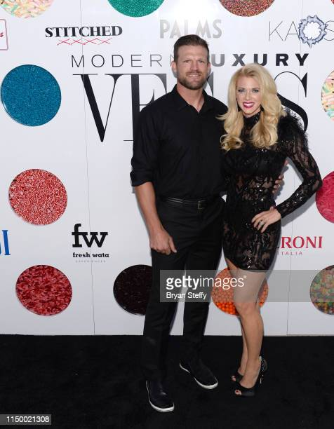 Television personalities Bristol Marunde and Aubrey Marunde attend Vegas Magazine's 16th anniversary party at KAOS Nightclub at Palms Casino Resort...