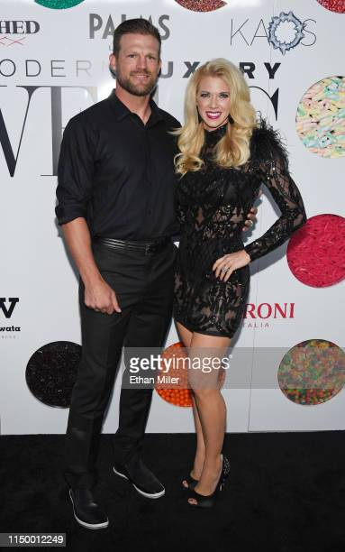 Television personalities Bristol Marunde and Aubrey Marunde from HGTV's Flip or Flop Vegas attend Vegas Magazine's 16th anniversary party at KAOS...