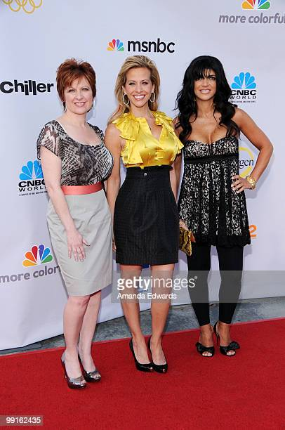 Television personalities Caroline Manzo Dina Manzo and Teresa Giudice arrive at the Cable Show 2010 featuring an evening with NBC Universal at...