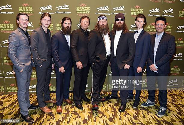 Television personalities Cole Robertson Reed Robertson Jep Robertson Alan Robertson Willie Robertson Jase Robertson John Luke Robertson and Will...