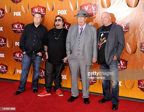 """Television personalities Corey Harrison, Austin """"Chumlee"""" Russell, Richard Harrison and Rick Harrison of """"Pawn Stars"""" arrive at the American Country..."""