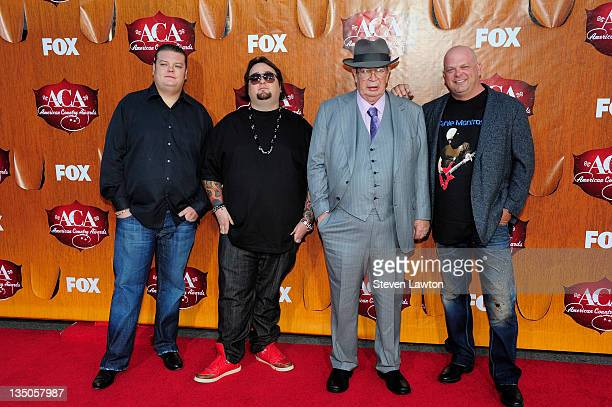 Television personalities Corey Harrison, Austin 'Chumlee' Russell, Richard Harrison and Rick Harrison of 'Pawn Stars' arrive at the American Country...