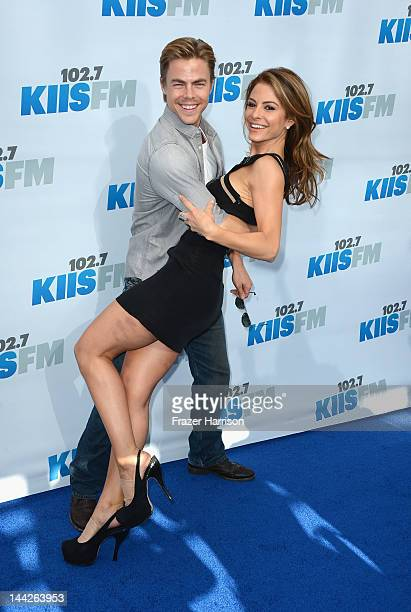 Television Personalities Derek Hough and Maria Menounos arrives at 1027 KIIS FM's Wango Tango at The Home Depot Center on May 12 2012 in Carson...