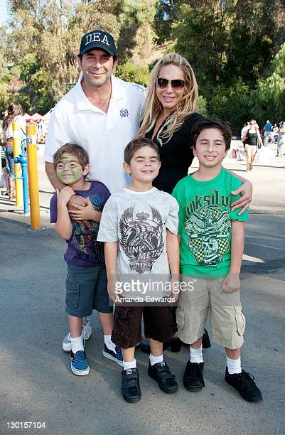 Television personalities Dr Paul Nassif Adrienne Maloof and their sons attend Camp Ronald McDonald For Good Times' 19th Annual Halloween Carnival at...