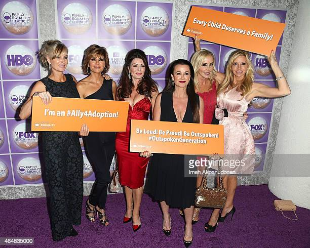 Television personalities Eileen Davidson Lisa Rinna Lisa Vanderpump Kyle Richards Shannon Beador and Camille Grammer attend the Family Equality...