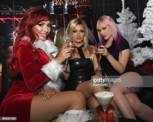 Television personalities Farrah Abraham and Heather Marianna and adult film actress Daizah Morgann attend the Crazy Horse III Gentlemen's Club's NEON...