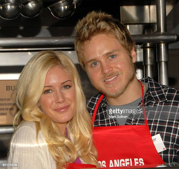 Television personalities Heidi Montag and Spencer Pratt attends Christmas Eve At The Los Angeles Mission on December 24 2008 in Los Angeles California
