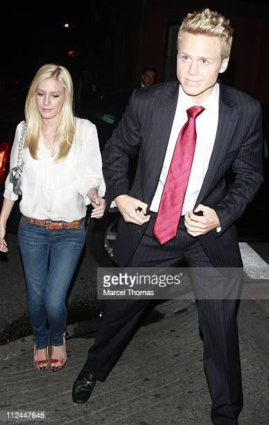 Television personalities Heidi Montag and Spencer Pratt visit The Waverly Inn Garden restaurant on June 9 2008 in New York City
