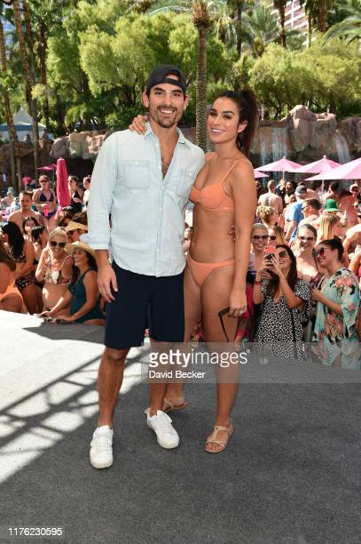 Television personalities Jared Haibon and Ashley Iaconetti Haibon attend the Flamingo Go Pool Dayclub at Flamingo Las Vegas on September 21, 2019 in...