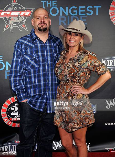 Television personalities Jarrod Schulz and Brandi Passante attend the Professional Bull Riders Official PBR 21st Birthday Party at the Mandalay Bay...