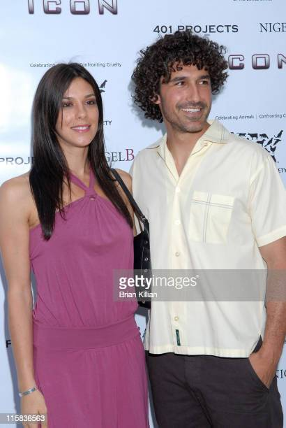 "Television personalities Jenna Morasca and Ethan Zohn attend the opening of the exhibition ""A Sealed Fate"" at 401 Projects July 24, 2008 in New York..."