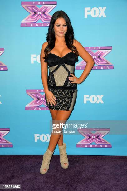 Television Personalities Jenni 'JWoww' Farley arrives at Fox's 'The X Factor' Season Finale Night 1 at CBS Television City on December 19 2012 in Los...