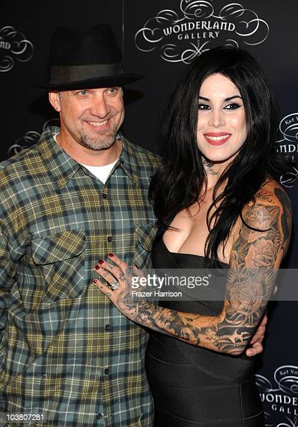 Television Personalities Jesse James and Kat Von D arrives at Kat Von D's Wonderland Gallery Opening on September 2 2010 in West Hollywood California