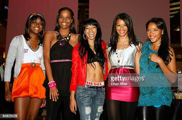 Television personalities Jessica Brown and Lynn James singer Alycia Bellamy and television personalities Vanessa Simmons and Angela Simmons pose...