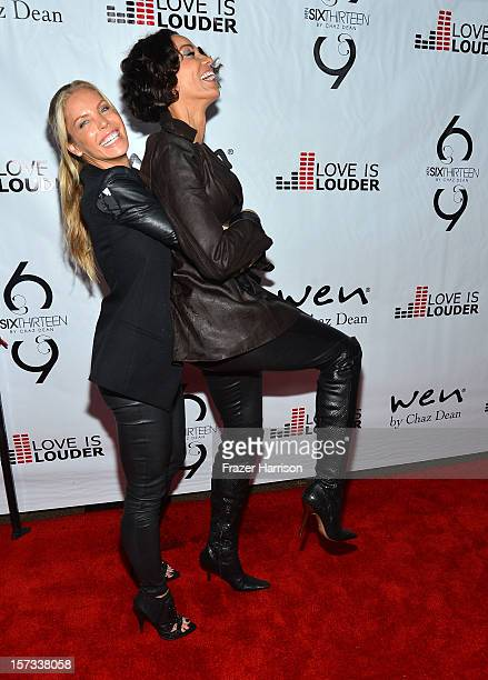 Television Personalities Jessica Canseco and Nicole Murphy arrive at Chaz Dean's Holiday Party Benefitting the Love is Louder Movement on December 1...