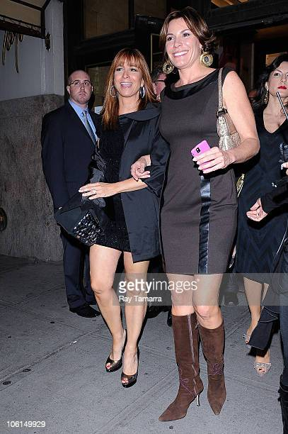 Television personalities Jill Zarin and LuAnn de Lesseps leave the Lord Taylor department store on October 26 2010 in New York City