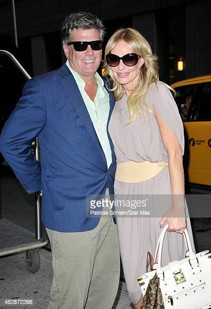 Television personalities John Bluher and Taylor Armstrong are seen on July 28 2014 in New York City