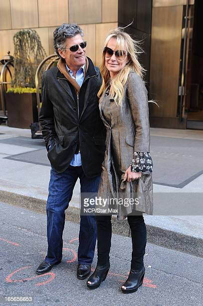 Television Personalities John Bluher and Taylor Armstrong are sighted on April 4 2013 in New York City