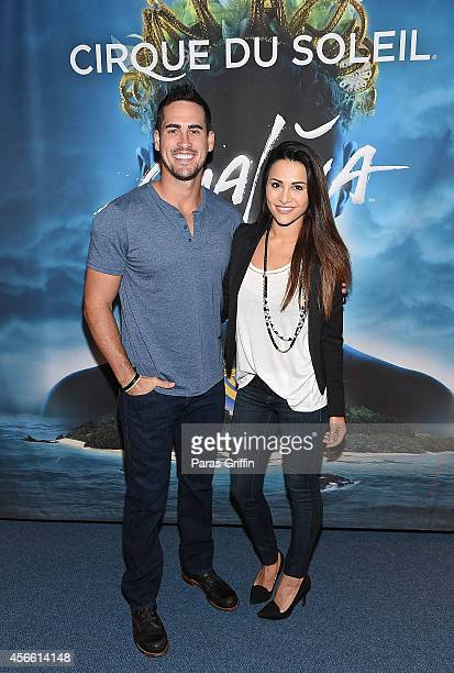 Television personalities Josh Murray and Andi Dorfman attends the Atlanta premiere night of Cirque Du Soleil Amaluna at Atlantic Station on October...