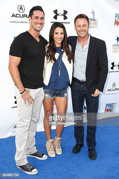 Television personalities Josh Murray Andi Dorfman and Chris Harrison attend Clayton Kershaw's 2nd Annual Ping Pong 4 Purpose charity event benefiting...
