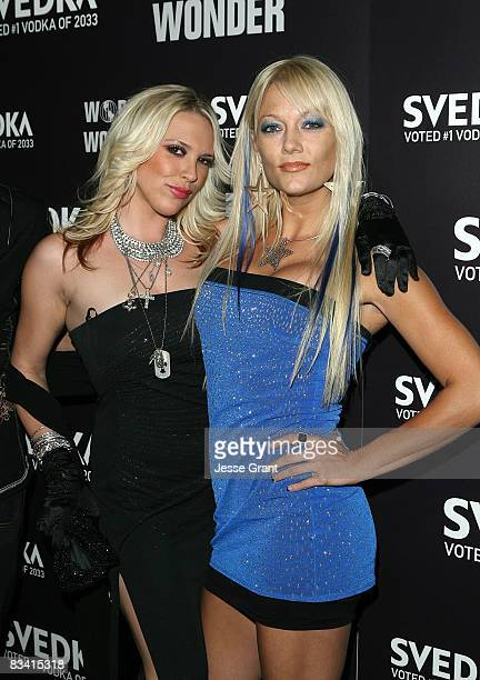 Television personalities Kayley Gable and Heather Chadwell arives at the Svedka Vodka Presents Hollywood DCLights Camera Election held at World Of...