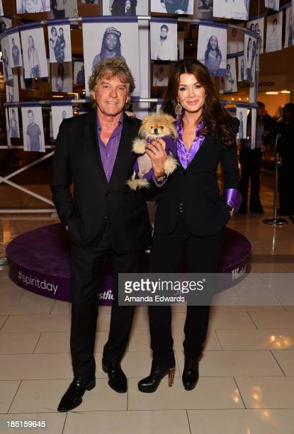 Television personalities Ken Todd Giggy and Lisa Vanderpump join GLAAD for the Spirit Day Photo Project unveiling at Westfield Century City on...
