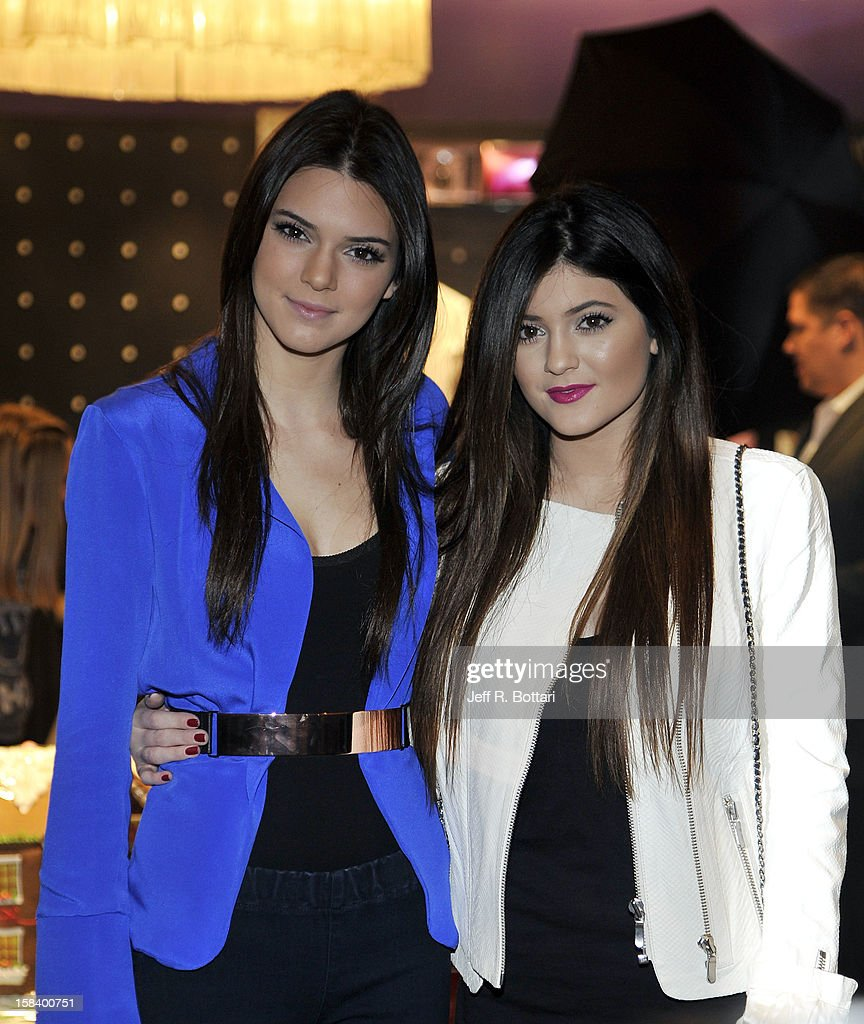 Television personalities Kendall Jenner (L) and Kylie Jenner appear at the Kardashian Khaos store at The Mirage Hotel & Casino for a fan meet-n-greet on December 15, 2012 in Las Vegas, Nevada.