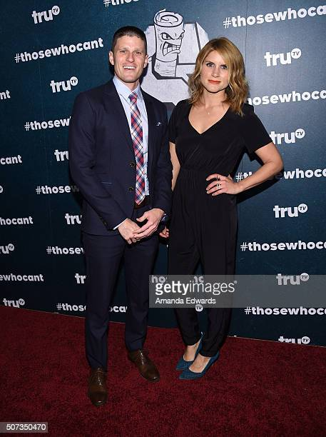 Television personalities Kevin Pereira and Brooke Van Poppelen arrive at the premiere of truTV's Those Who Can't at The Wilshire Ebell Theatre on...