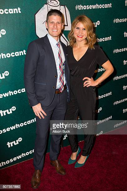 Television personalities Kevin Pereira and Brooke Van Poppelen arrive at the premiere of truTV's 'Those Who Can't' at The Wilshire Ebell Theatre on...