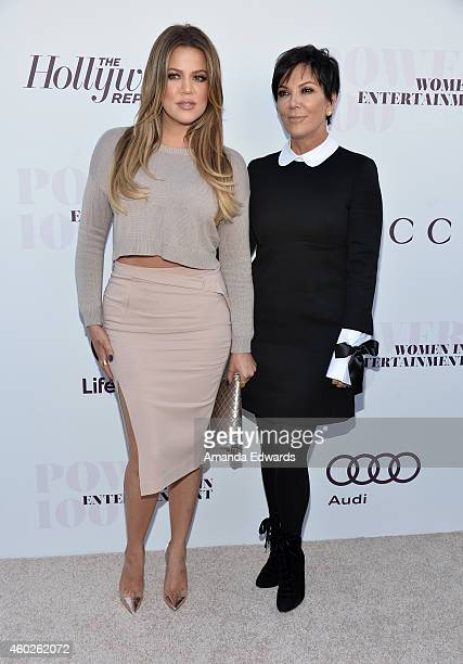 Television personalities Khloe Kardashian and Kris Jenner arrive at The Hollywood Reporter's Women In Entertainment Breakfast at Milk Studios on...